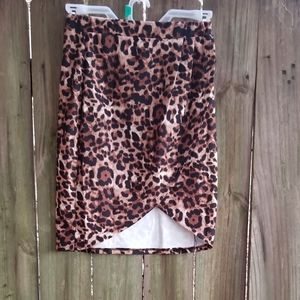 Leopard Skirt Size M